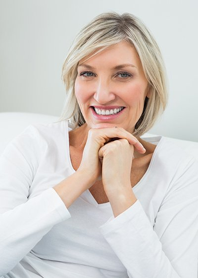 Older woman with attractive smile